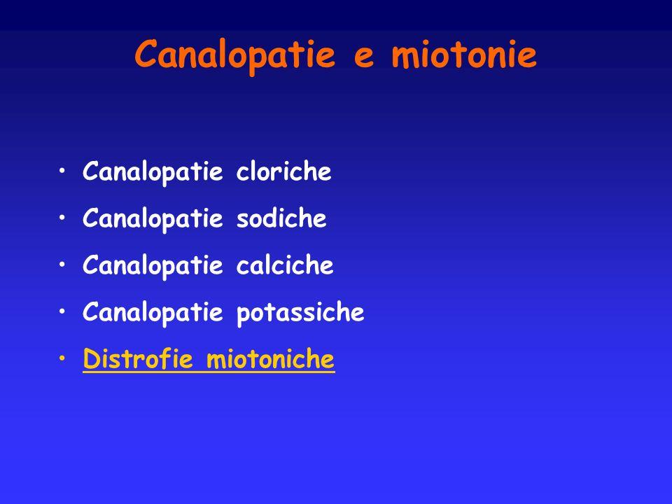 Canalopatie e miotonie