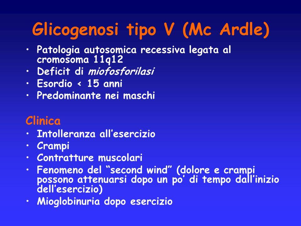 Glicogenosi tipo V (Mc Ardle)