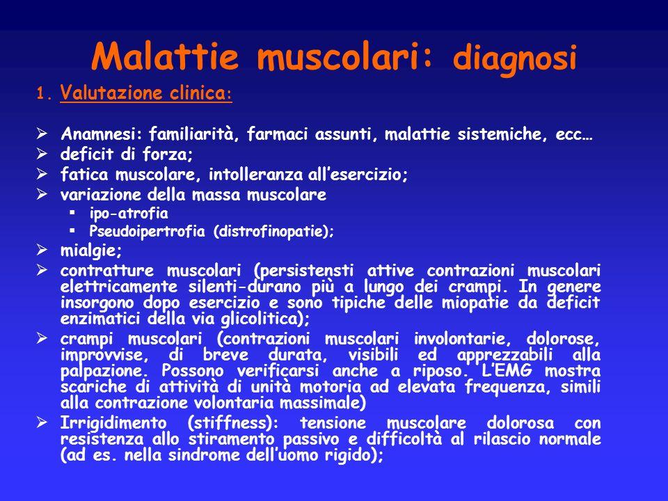 Malattie muscolari: diagnosi
