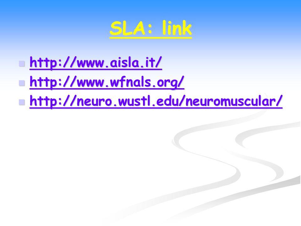 SLA: link http://www.aisla.it/ http://www.wfnals.org/