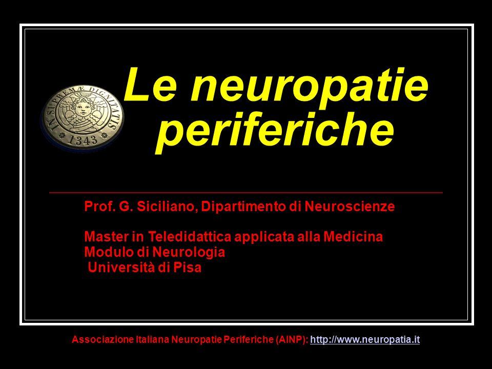 Le neuropatie periferiche