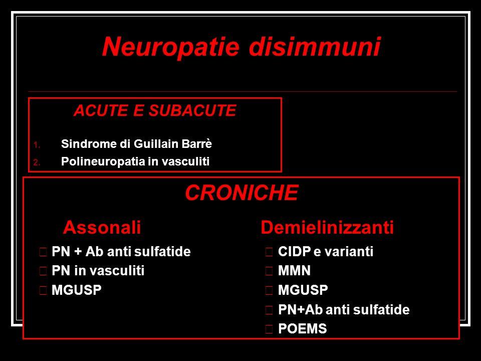 Neuropatie disimmuni Assonali Demielinizzanti CRONICHE