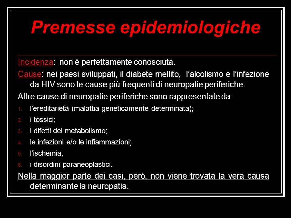 Premesse epidemiologiche