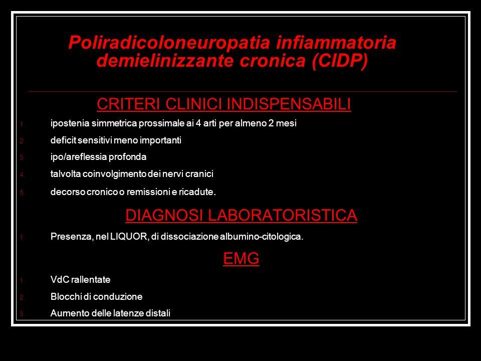 Poliradicoloneuropatia infiammatoria demielinizzante cronica (CIDP)