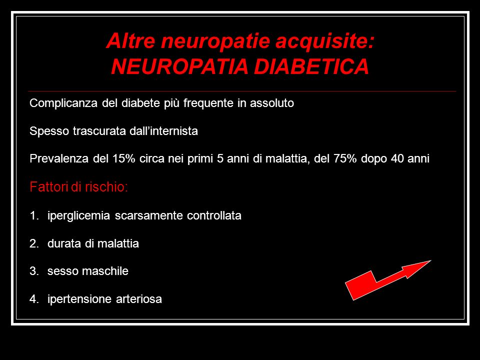 Altre neuropatie acquisite: