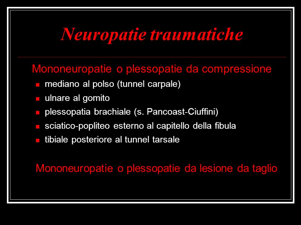 Neuropatie traumatiche
