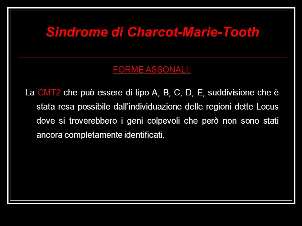 Sindrome di Charcot-Marie-Tooth