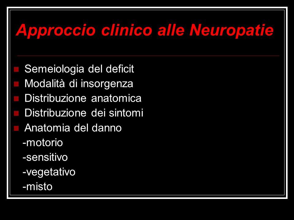 Approccio clinico alle Neuropatie