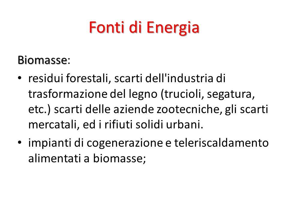Fonti di Energia Biomasse: