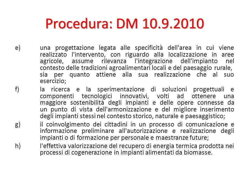 Procedura: DM 10.9.2010