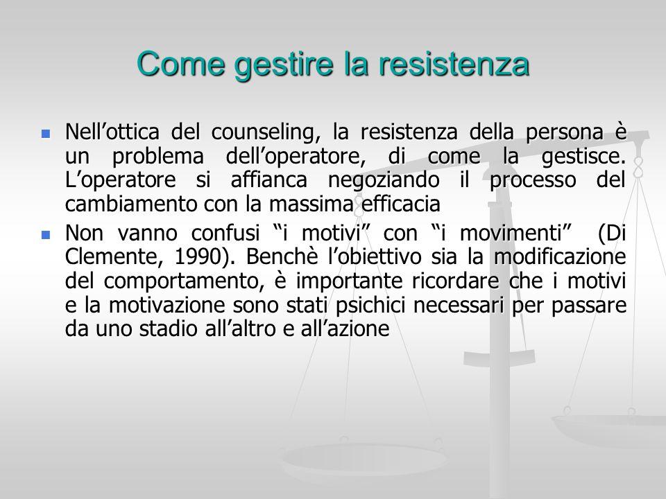 Come gestire la resistenza
