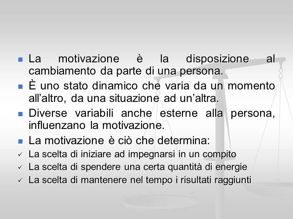 La motivazione è ciò che determina: