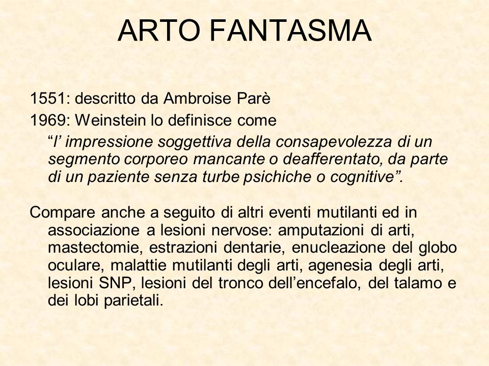 ARTO FANTASMA 1551: descritto da Ambroise Parè