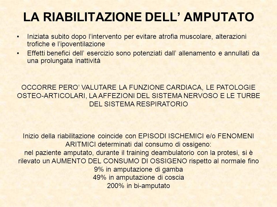 LA RIABILITAZIONE DELL' AMPUTATO