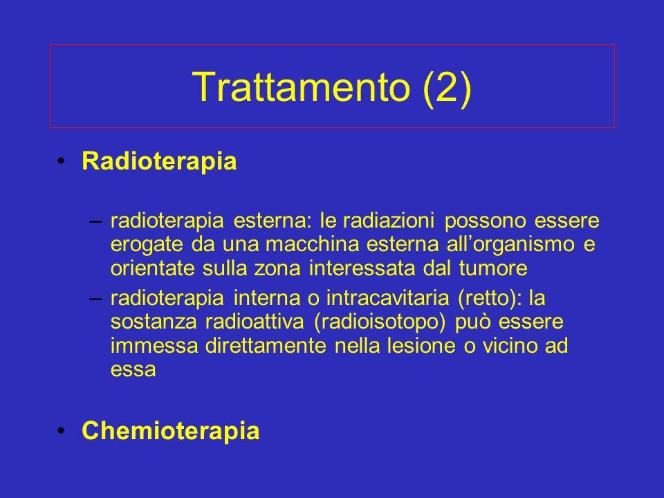 Trattamento (2) Radioterapia Chemioterapia