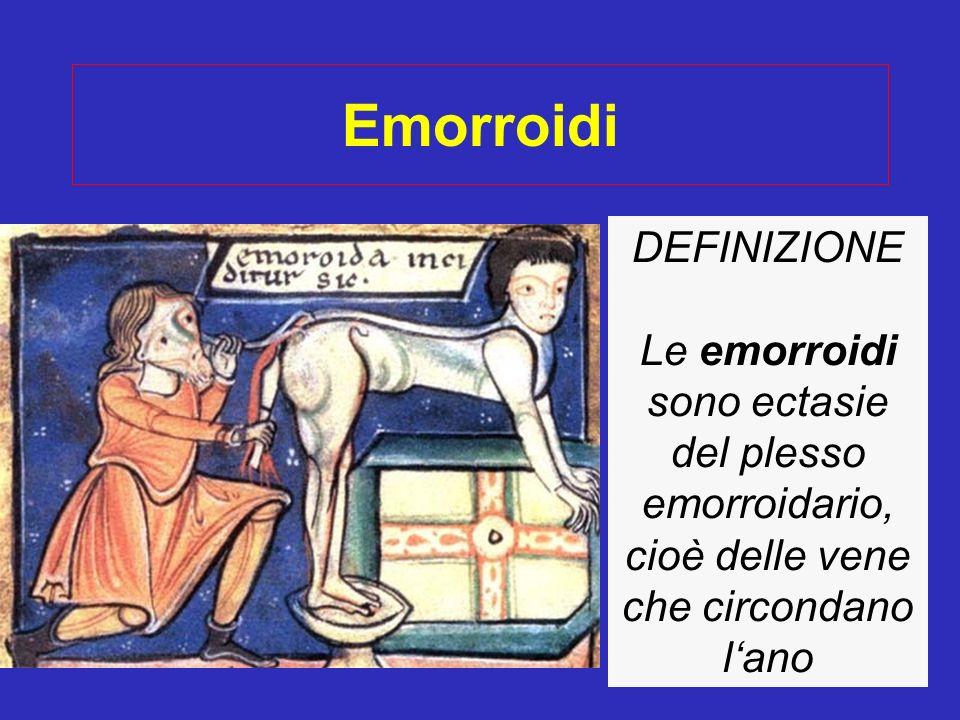Emorroidi DEFINIZIONE
