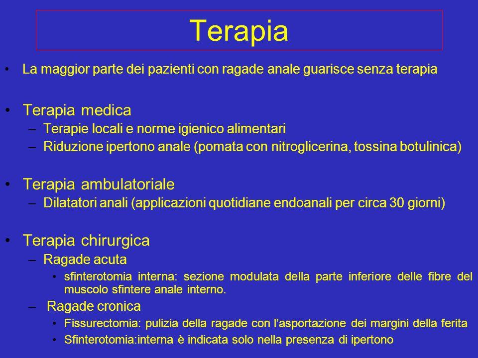 Terapia Terapia medica Terapia ambulatoriale Terapia chirurgica