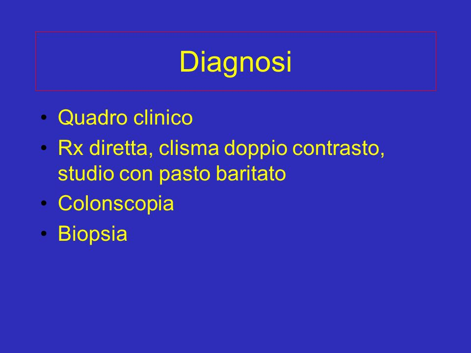 Diagnosi Quadro clinico