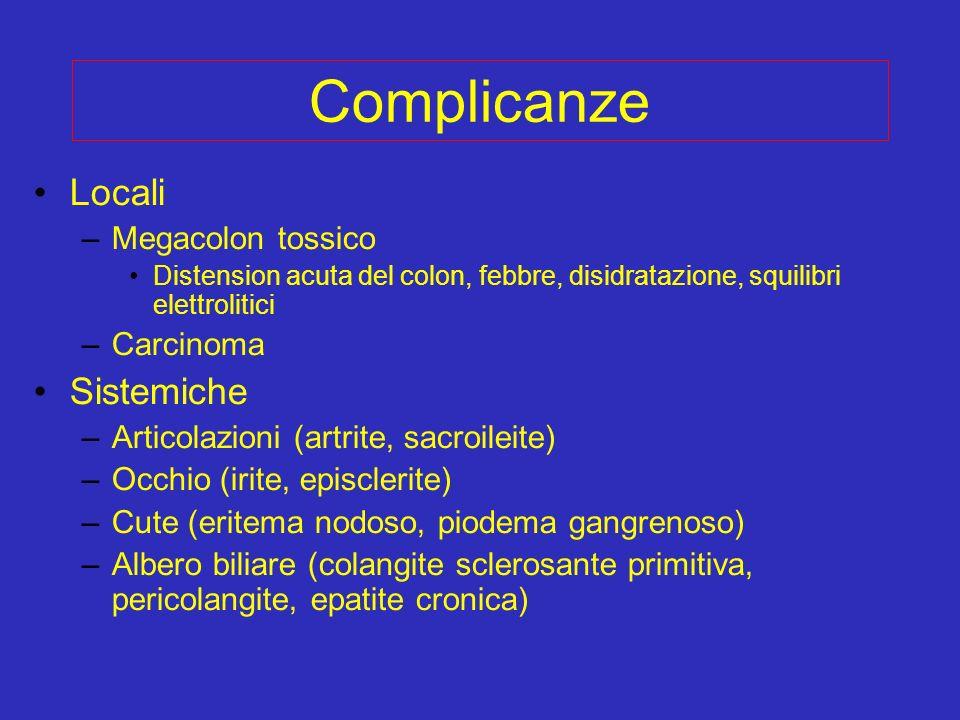 Complicanze Locali Sistemiche Megacolon tossico Carcinoma