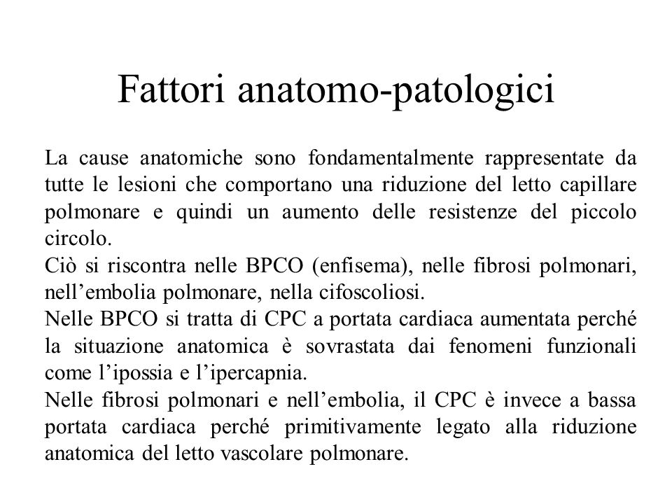 Fattori anatomo-patologici