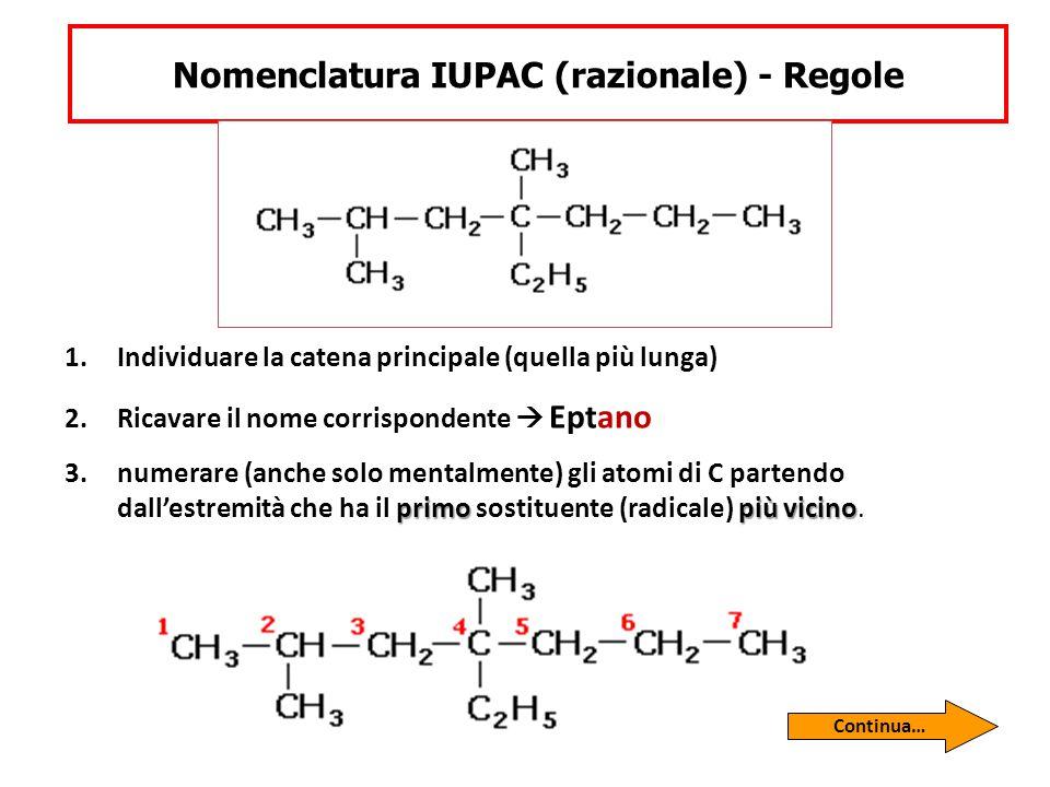 Nomenclatura IUPAC (razionale) - Regole