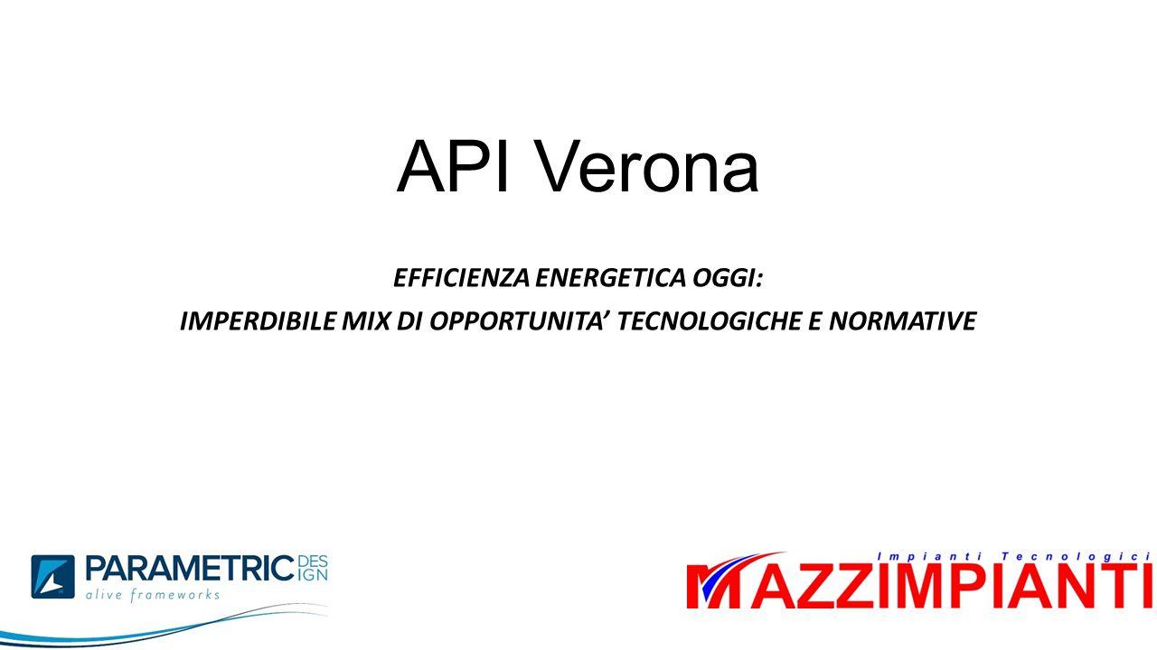 API Verona EFFICIENZA ENERGETICA OGGI: