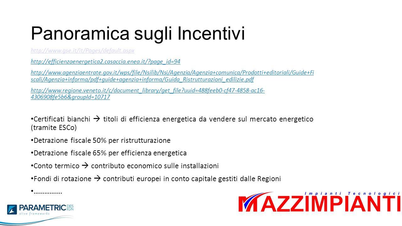 Panoramica sugli Incentivi