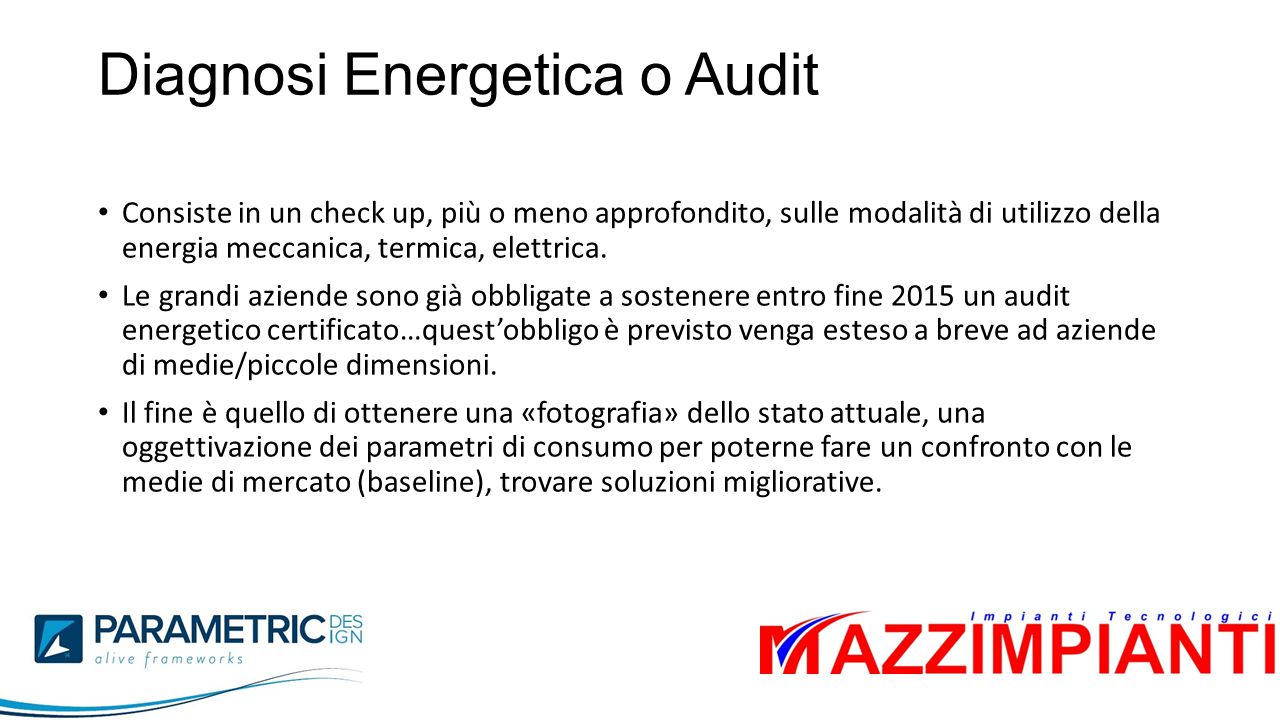 Diagnosi Energetica o Audit
