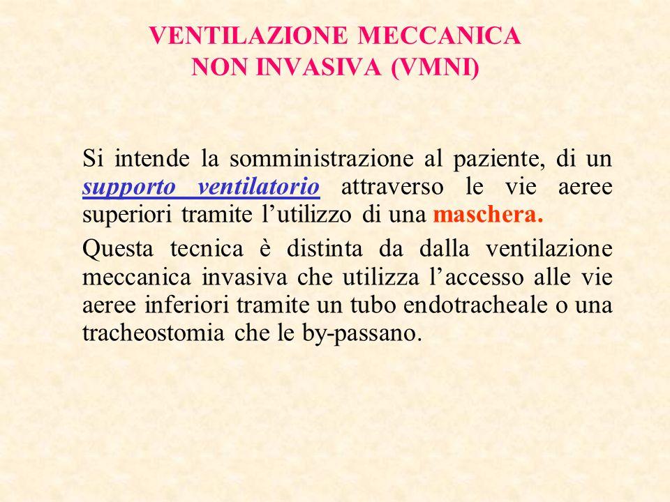 VENTILAZIONE MECCANICA NON INVASIVA (VMNI)