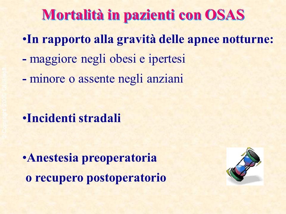 Mortalità in pazienti con OSAS