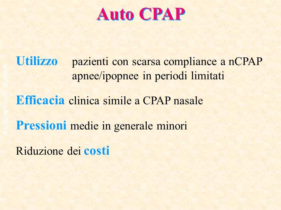 Auto CPAP Utilizzo pazienti con scarsa compliance a nCPAP