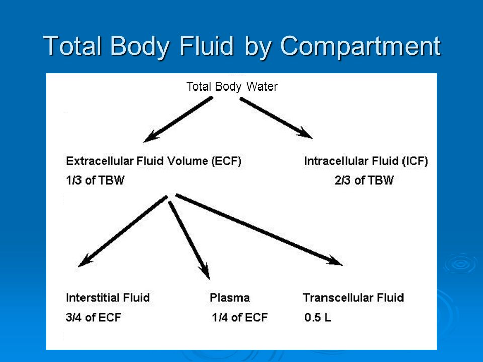 Total Body Fluid by Compartment