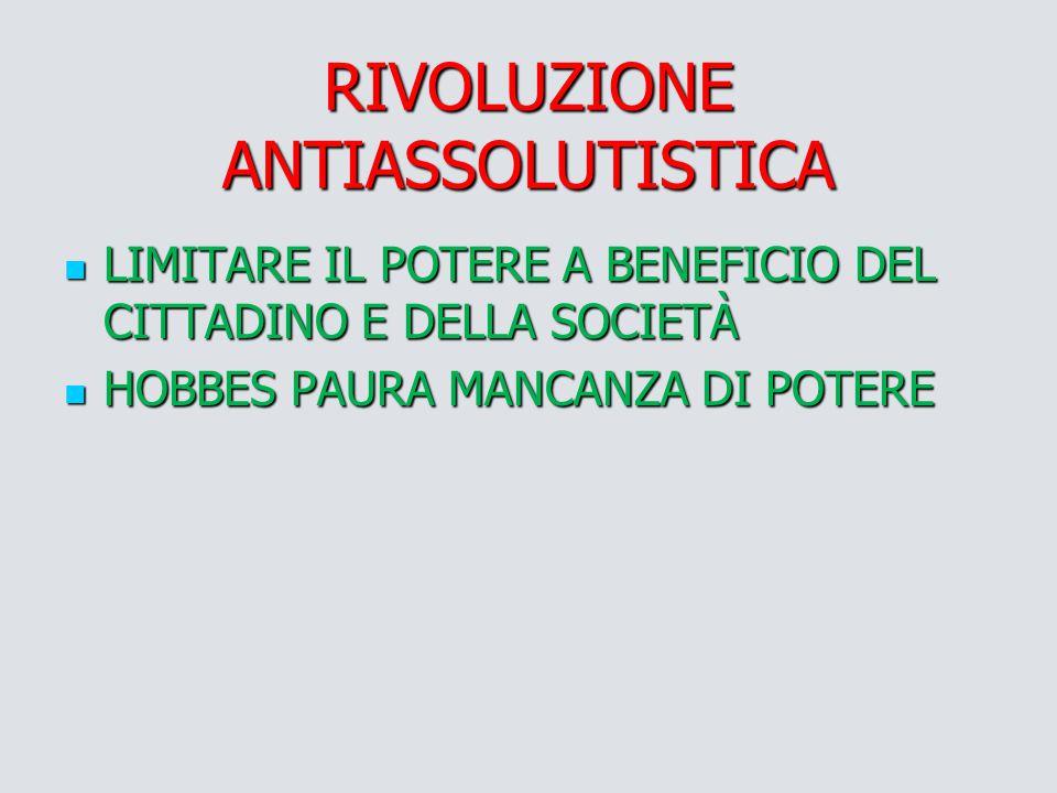 RIVOLUZIONE ANTIASSOLUTISTICA