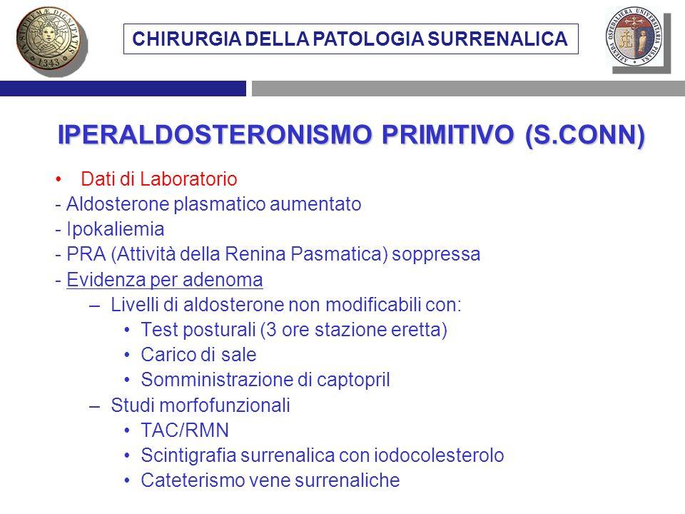 IPERALDOSTERONISMO PRIMITIVO (S.CONN)