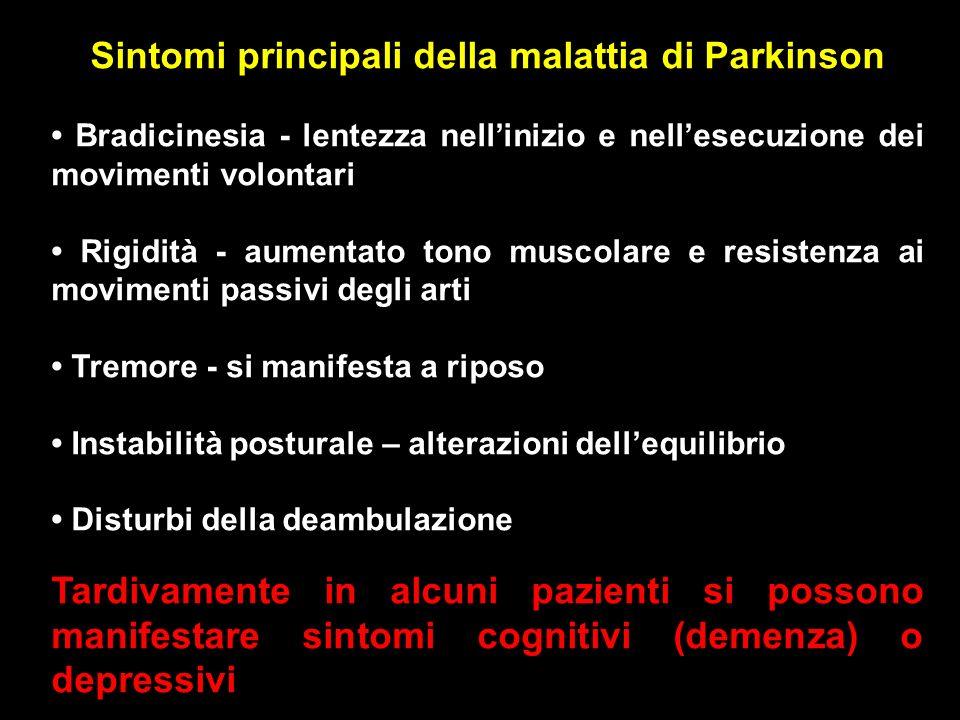 Sintomi principali della malattia di Parkinson