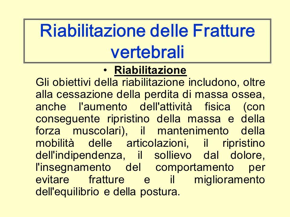 Riabilitazione delle Fratture vertebrali