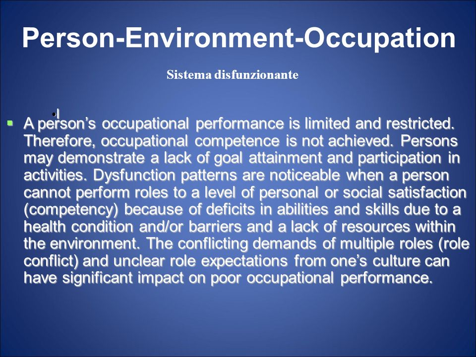Person-Environment-Occupation