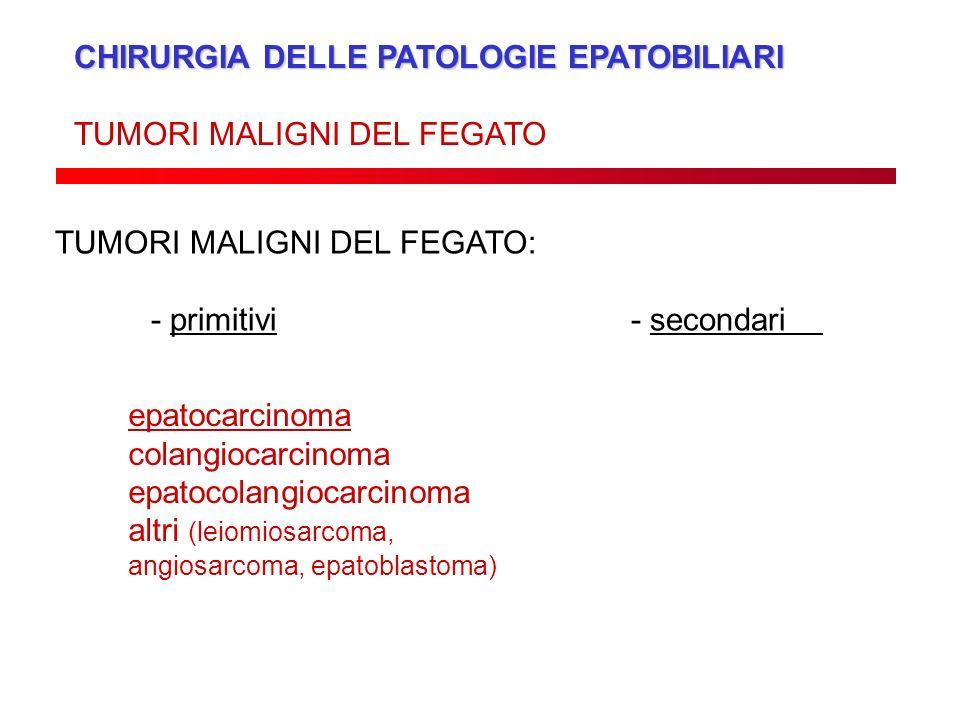 CHIRURGIA DELLE PATOLOGIE EPATOBILIARI TUMORI MALIGNI DEL FEGATO