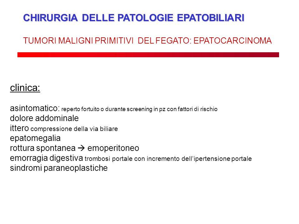 CHIRURGIA DELLE PATOLOGIE EPATOBILIARI
