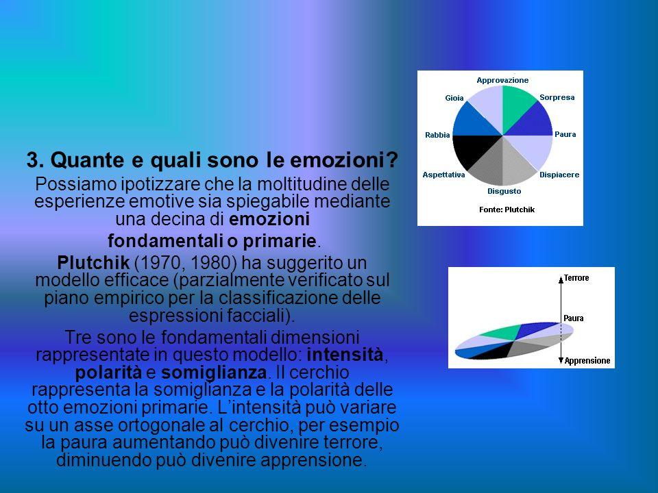 3. Quante e quali sono le emozioni