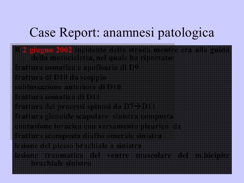 Case Report: anamnesi patologica