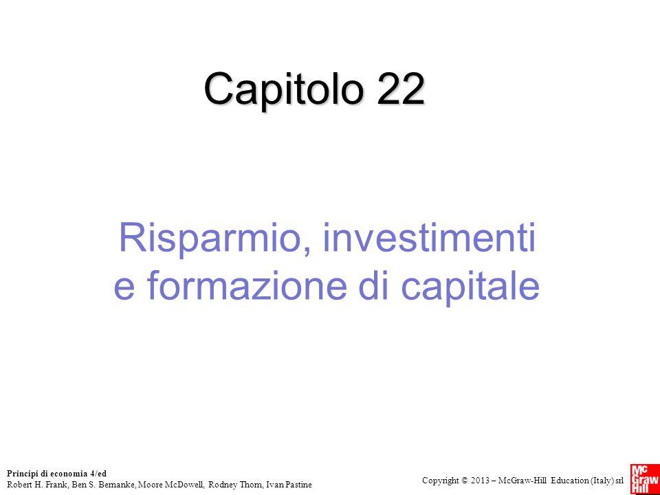 Risparmio, investimenti e formazione di capitale