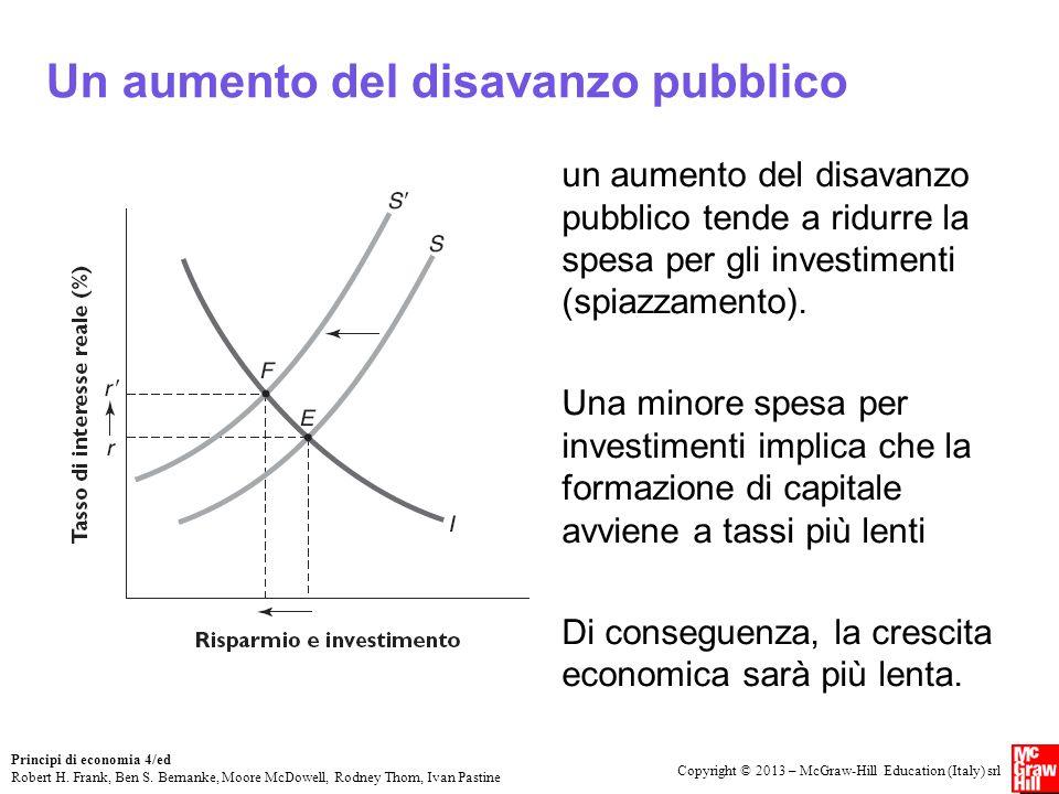 Un aumento del disavanzo pubblico