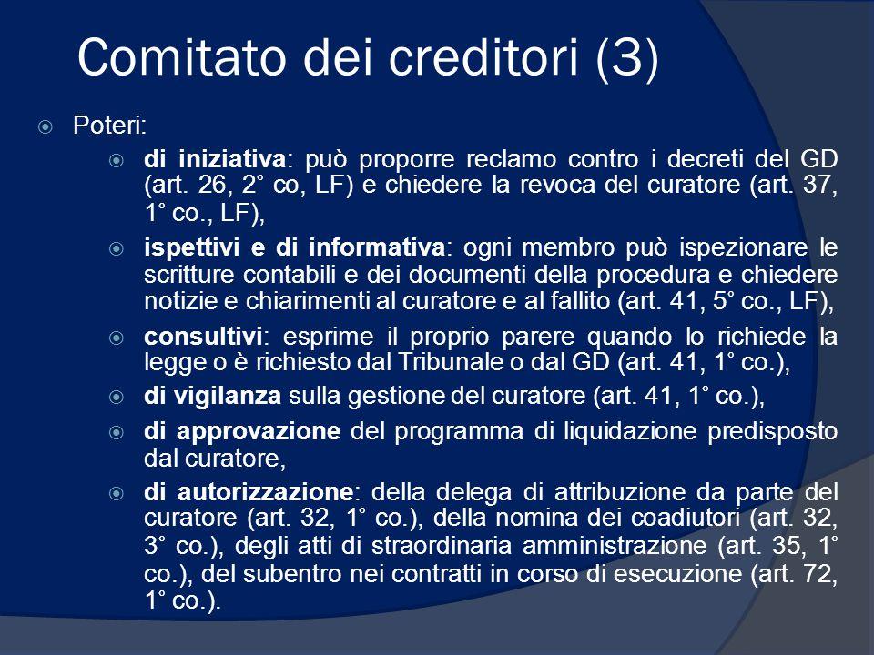 Comitato dei creditori (3)