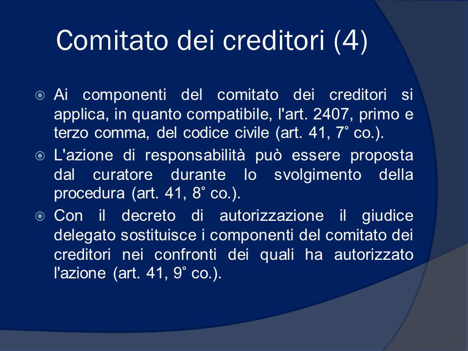 Comitato dei creditori (4)