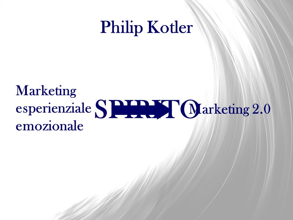 Philip Kotler Marketing esperienziale emozionale SPIRITO Marketing 2.0