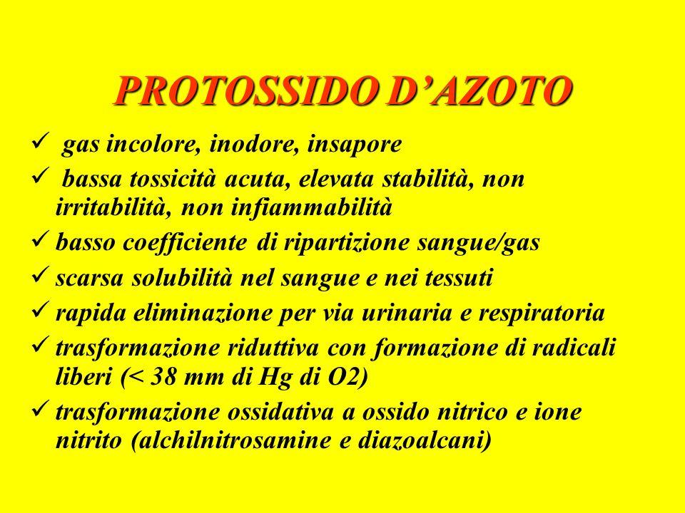 PROTOSSIDO D'AZOTO gas incolore, inodore, insapore