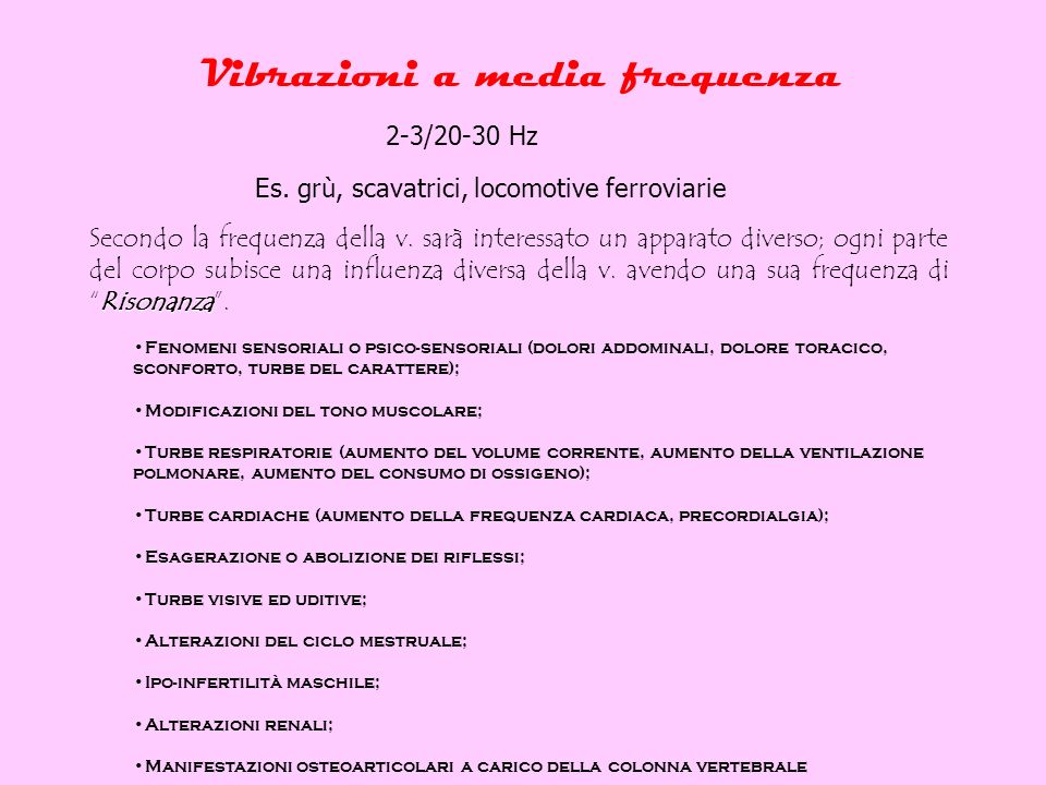 Vibrazioni a media frequenza