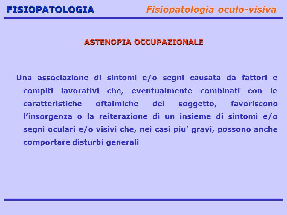 Fisiopatologia oculo-visiva ASTENOPIA OCCUPAZIONALE