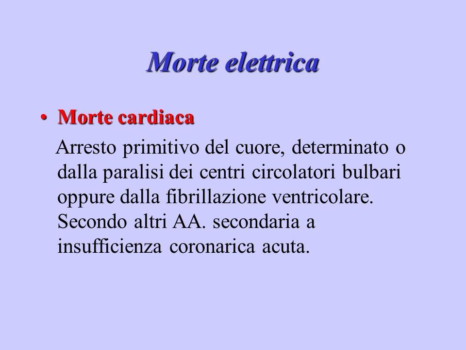 Morte elettrica Morte cardiaca